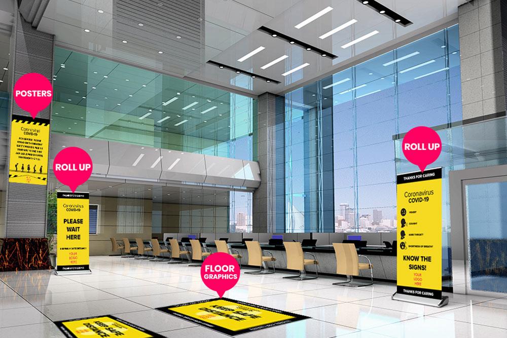 Bank Floor Graphics By Michigan Custom Signs