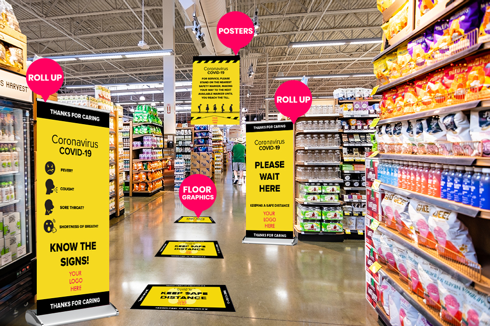 Grocery Store Graphics By Michigan Custom Signs