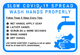 Wash Hands Properly Sign By Michigan Custom Signs