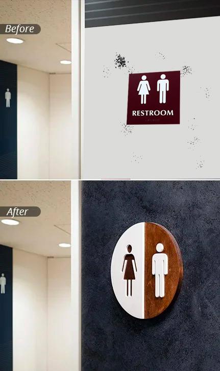 Get the best Bathroom Signs in Michigan