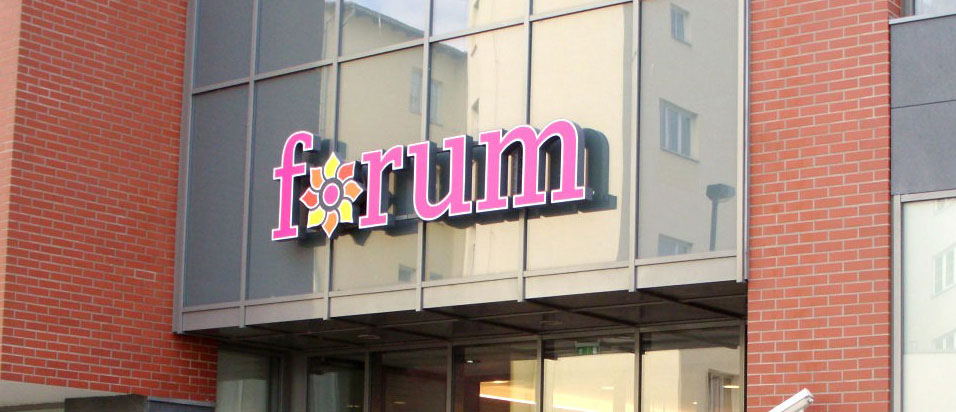 Forum Mall Storefront Sign By Michigan Custom Signs