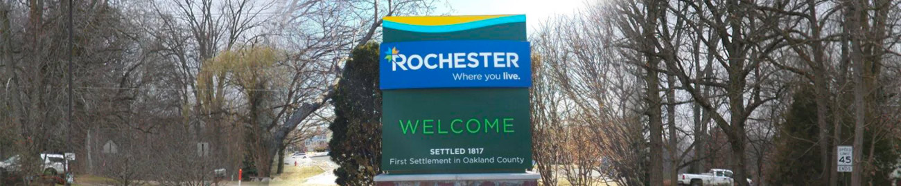 Rochester Monument Sign By Michigan Custom Signs