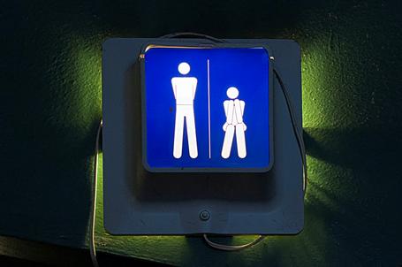 Backlit Restroom Sign By Michigan Custom Signs