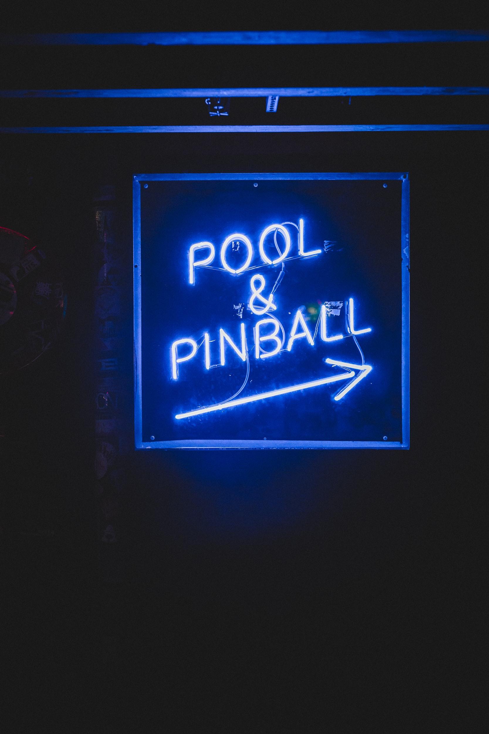Backlit Pool & Pinball Game Sign By Michigan Custom Signs