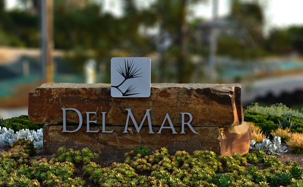 Del Mar Monument Sign By Michigan Custom Signs